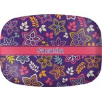 Simple Floral Melamine Platter (Personalized)