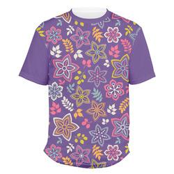 Simple Floral Men's Crew T-Shirt (Personalized)