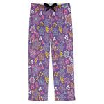 Simple Floral Mens Pajama Pants (Personalized)