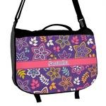 Simple Floral Messenger Bag (Personalized)