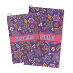 Simple Floral Microfiber Golf Towel (Personalized)