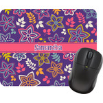 Simple Floral Mouse Pad (Personalized)