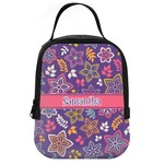 Simple Floral Neoprene Lunch Tote (Personalized)