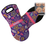 Simple Floral Neoprene Oven Mitt (Personalized)