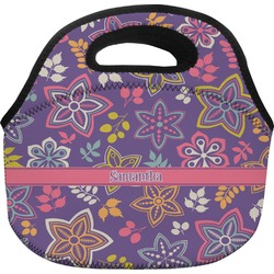 Simple Floral Lunch Bag (Personalized)