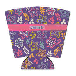Simple Floral Party Cup Sleeve (Personalized)