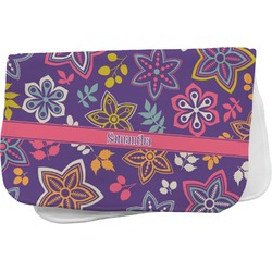 Simple Floral Burp Cloth (Personalized)