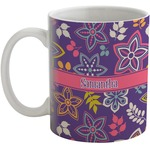 Simple Floral Coffee Mug (Personalized)