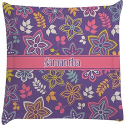 Simple Floral Euro Sham Pillow Case (Personalized)