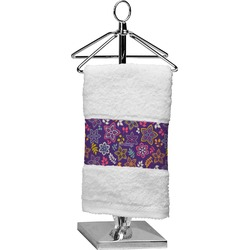 Simple Floral Finger Tip Towel (Personalized)