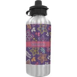 Simple Floral Water Bottle (Personalized)