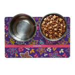 Simple Floral Dog Food Mat - Small w/ Name or Text