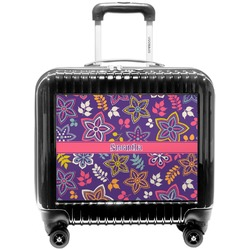 Simple Floral Pilot / Flight Suitcase (Personalized)