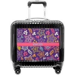 Simple Floral Pilot / Flight Suitcase (Personalized)