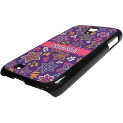 Simple Floral Plastic Samsung Galaxy 4 Phone Case (Personalized)