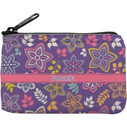 Simple Floral Rectangular Coin Purse (Personalized)