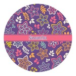 Simple Floral Round Decal - Custom Size (Personalized)