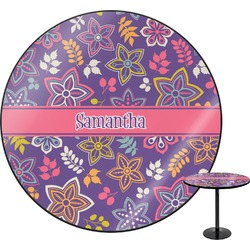 Simple Floral Round Table (Personalized)