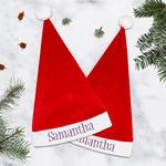 Simple Floral Santa Hat (Personalized)