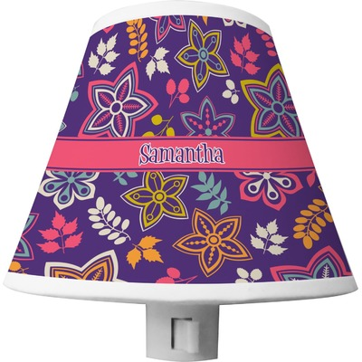 Simple Floral Shade Night Light (Personalized)