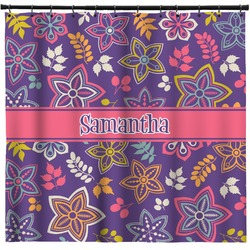 Simple Floral Shower Curtain (Personalized)