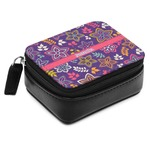 Simple Floral Small Leatherette Travel Pill Case (Personalized)