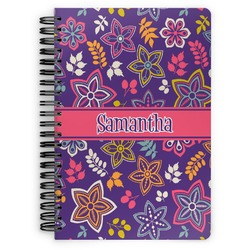 Simple Floral Spiral Bound Notebook (Personalized)
