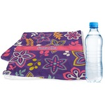 Simple Floral Sports & Fitness Towel (Personalized)