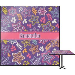 Simple Floral Square Table Top (Personalized)