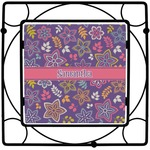 Simple Floral Square Trivet (Personalized)