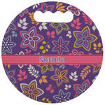Simple Floral Stadium Cushion (Round) (Personalized)