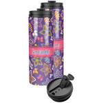 Simple Floral Stainless Steel Skinny Tumbler (Personalized)