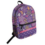 Simple Floral Student Backpack (Personalized)