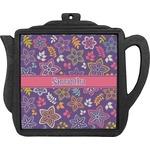 Simple Floral Teapot Trivet (Personalized)