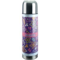 Simple Floral Stainless Steel Thermos (Personalized)