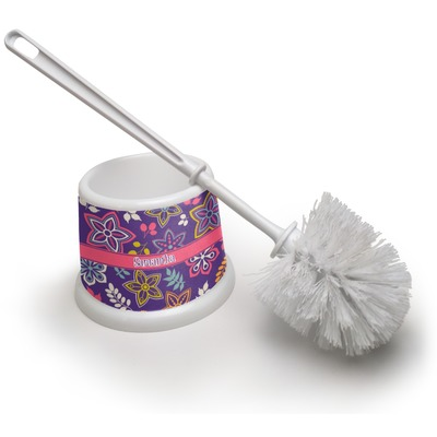 Simple Floral Toilet Brush (Personalized)