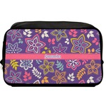 Simple Floral Toiletry Bag / Dopp Kit (Personalized)