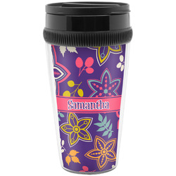 Simple Floral Travel Mugs (Personalized)