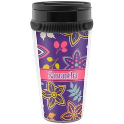 Simple Floral Travel Mug (Personalized)