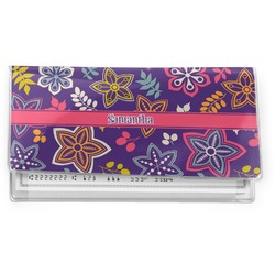 Simple Floral Vinyl Checkbook Cover (Personalized)