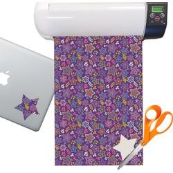 Simple Floral Sticker Vinyl Sheet (Permanent)
