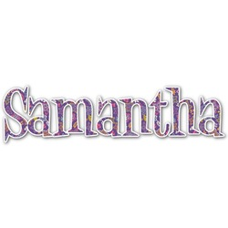 Simple Floral Name/Text Decal - Large (Personalized)
