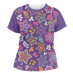 Simple Floral Women's Crew T-Shirt (Personalized)
