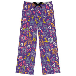 Simple Floral Womens Pajama Pants (Personalized)