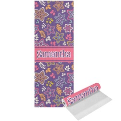 Simple Floral Yoga Mat - Printed Front (Personalized)