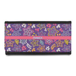 Simple Floral Leatherette Ladies Wallet (Personalized)