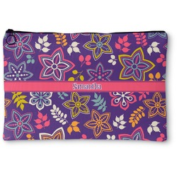 Simple Floral Zipper Pouch (Personalized)