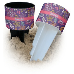 Simple Floral Beach Spiker Drink Holder (Personalized)