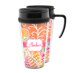Abstract Foliage Acrylic Travel Mugs (Personalized)
