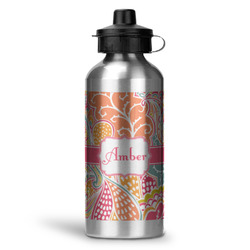 Abstract Foliage Water Bottle - Aluminum - 20 oz (Personalized)